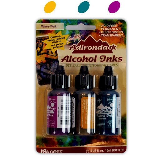 Ranger Ink - Tim Holtz - Adirondack Alcohol Inks - 3 Pack - Nature Walk