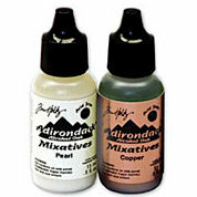 Ranger Ink - Tim Holtz - Adirondack Metallic Mixatives - 2 Pack - Pearl and Copper