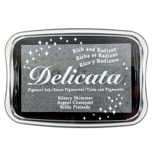 Tsukineko - Delicata - Ink Pad - Silvery Shimmer