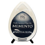 Tsukineko - Memento - Fade Resistant Dye Ink Pad - Dew Drop - Nautical Blue