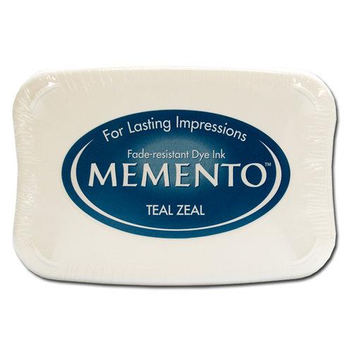 Tsukineko - Memento - Fade Resistant Dye Ink Pad - Teal Zeal
