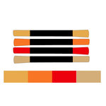 Tsukineko - Memento - Fade Resistant Markers - Golden Sunset - Set of Four