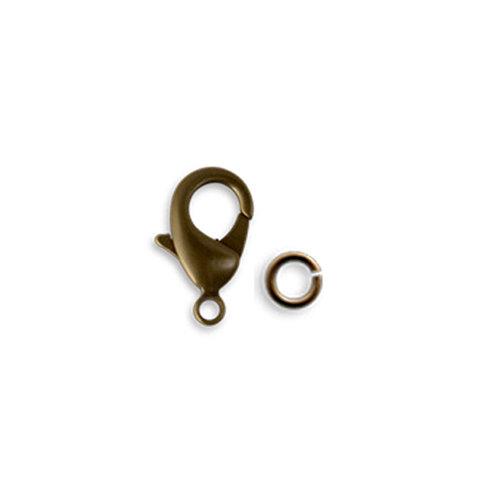Vintaj Metal Brass Company - Metal Jewelry Hardware - Classic Lobster Clasp - 22.5mm