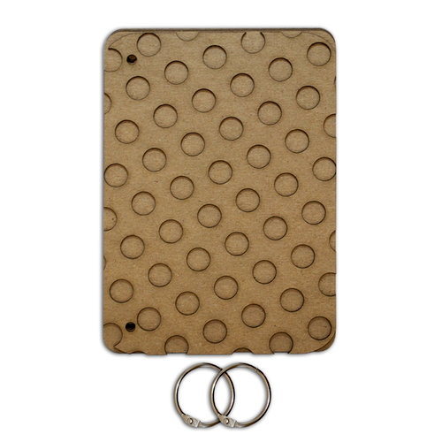 Want2Scrap - Bare it All - Chipboard Album - Polka Dot Booklet