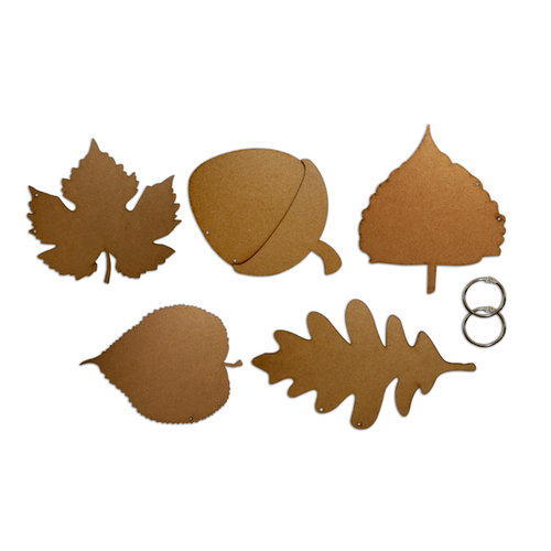 Want2Scrap - Bare it All - Chipboard Album - Leaf Album