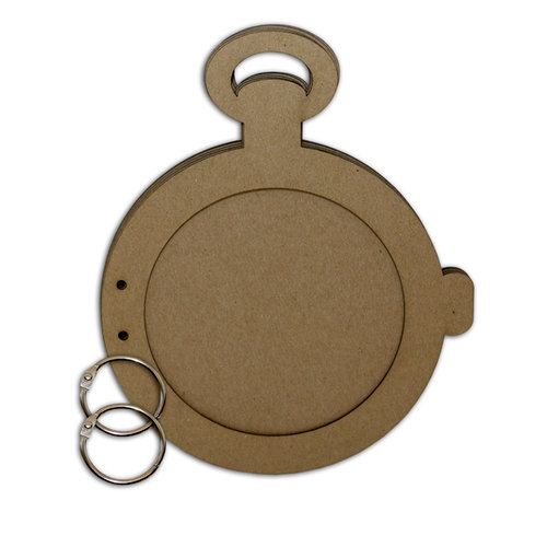Want2Scrap - Bare it All - Chipboard Album - Pocket Watch
