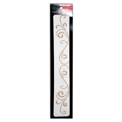 Want2Scrap - Say it With Pearls - Self Adhesive Pearls - Swirls Finesse - LeCreme