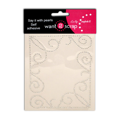 Want2Scrap - Say it With Bling - Self Adhesive Gems - Classy Corners - Class