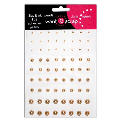 Want2Scrap - Say it With Pearls - Adhesive Pearls - LeCreme