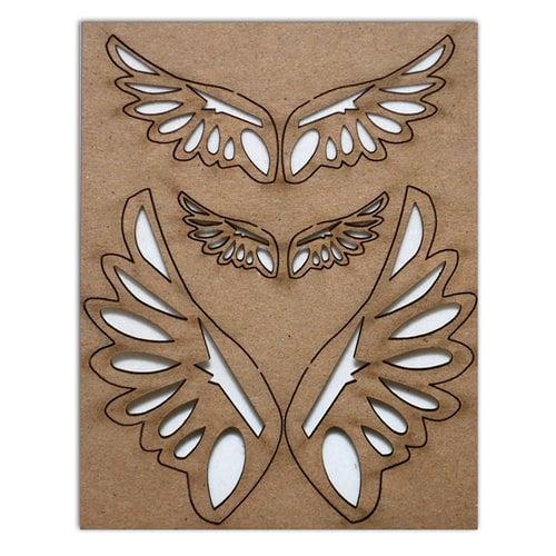 Want2Scrap - Chipboard Pieces - Angel Wings