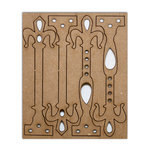 Want2Scrap - Chipboard Pieces - Antique Hardware