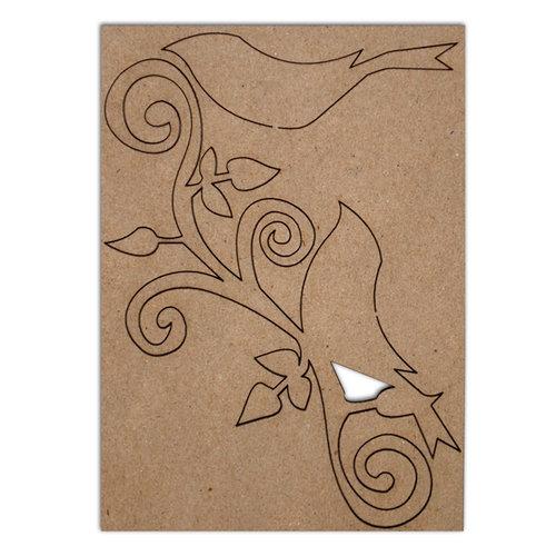 Want2Scrap - Chipboard Pieces - Large Bird Flourish