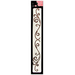 Want2Scrap - Say it With Bling - Self Adhesive Rhinestones - Swirls Finesse - Brown