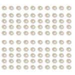 Want2Scrap - Say it With Pearls - Adhesive Pearls - Baby Bling - White
