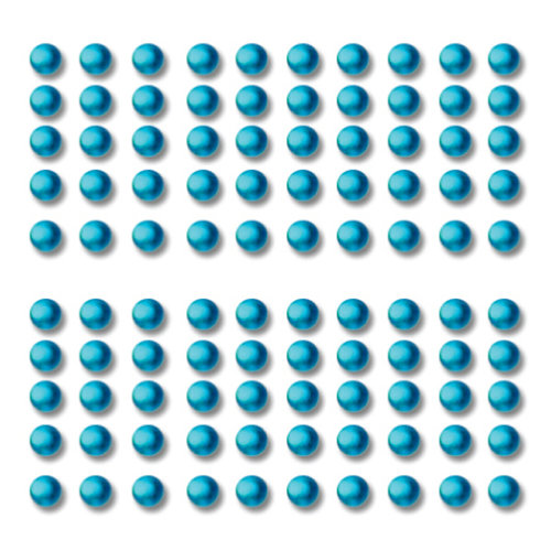 Want2Scrap - Say it With Bling - Adhesive Rhinestones - Baby Bling - Turquoise