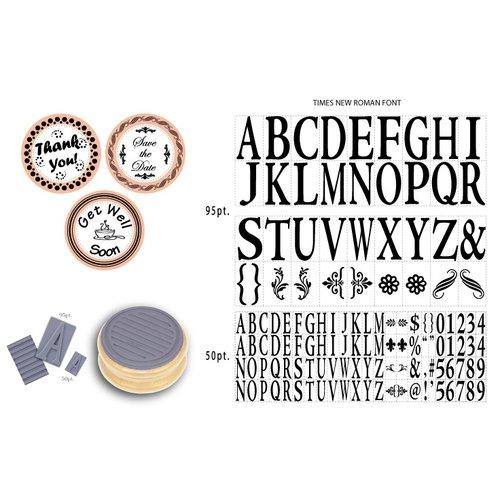 Mason Row - Monogram Set with Wood Block - Times New Roman Font