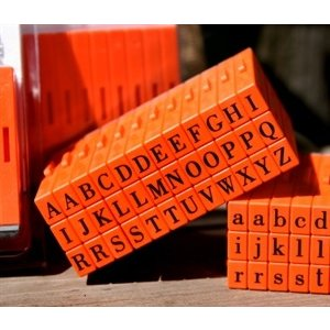 Mason Row - Pegz - Rubber Stamp Set - Upper Case - Bodoni Font