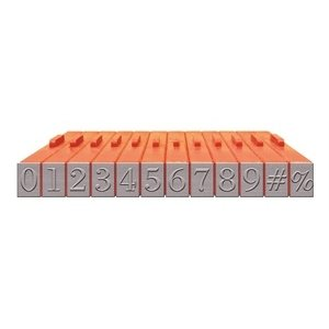 Mason Row - Pegz - Rubber Stamp Set - Numbers - Bodoni Font