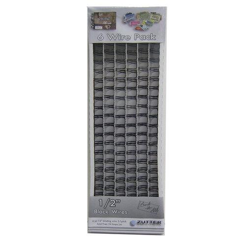 Zutter - Bind-It-All - One Half Inch Black Wire - 6 Pieces