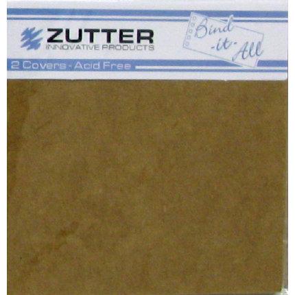 Zutter - Bind-It-All - Covers - 4.1x4.1 Inches - Kraft