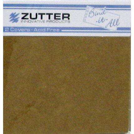 Zutter - Bind-It-All - Covers - 8x8 Inches - Kraft