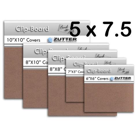 Bind It All - Zutter - Clip-Board Wood Covers - 5x7.5