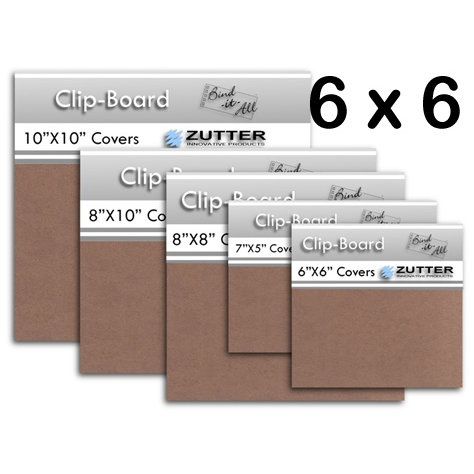 Bind It All - Zutter - Clip-Board Wood Covers - 6x6