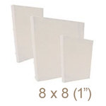 Zutter - 8 x 8 Cover All - One Inch Bamboo Spine - White