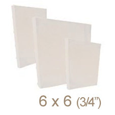 Zutter - 6 x 6 Cover All - Three Quarter Inch Bamboo Spine - White