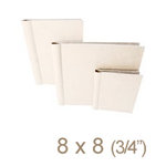 Zutter - 8 x 8 Cover All - Three Quarter Inch Curved Spine - White