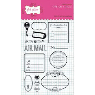 Pink Paislee - Office Lingo Collection - Clear Stamps - Office Lingo, CLEARANCE