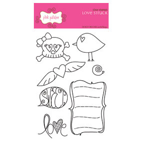 Pink Paislee - Clear Stamps - Love Struck, CLEARANCE