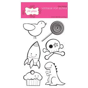 Pink Paislee - Clear Stamps - Vintage Pop