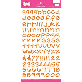 Pink Paislee - Holly Doodle Alphabet Stickers - Orange Crush
