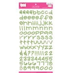 Pink Paislee - Holly Doodle Alphabet Stickers - Green Lace
