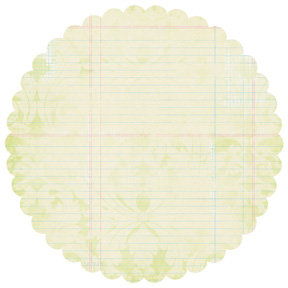 Pink Paislee - Office Lingo Collection - 12x12 Scalloped Paper - Roundtable