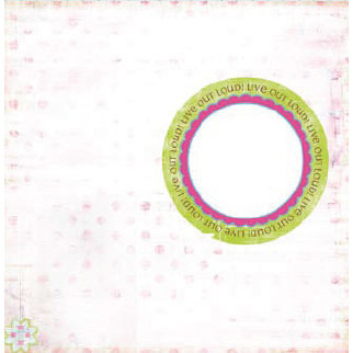 Pink Paislee - Office Lingo Collection - 12x12 Transparent Overlay - Office Lingo, CLEARANCE