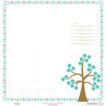 Pink Paislee - Spring Fling Collection - 12x12 Transparent Overlay - Spring Fling, CLEARANCE