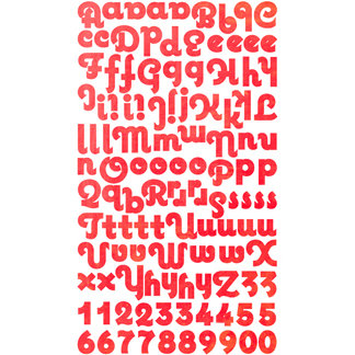 Pink Paislee - Winsome - Fascinating Collection - Cardstock Alphabet Stickers
