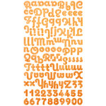 Pink Paislee - Winsome - Captivating Collection - Cardstock Alphabet Stickers