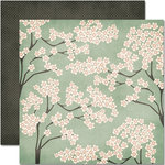 Pink Paislee - Amber Road Collection - 12 x 12 Double Sided Paper - Autumn Blossom
