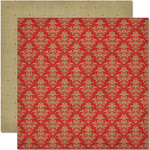 Pink Paislee - Amber Road Collection - 12 x 12 Double Sided Paper - Apple Cider