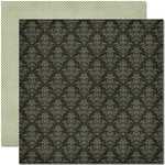 Pink Paislee - Amber Road Collection - 12 x 12 Double Sided Paper - Bonfire