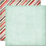 Pink Paislee - Cupid Collection - 12 x 12 Double Sided Paper - Bow and Arrow