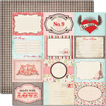 Pink Paislee - Cupid Collection - 12 x 12 Double Sided Paper - Paislee Postcards