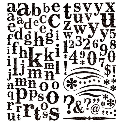 Pink Paislee - Expressions Collection - Glitter Chipboard Alphabet Stickers - Licorice