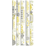 Pink Paislee - Queen Bee Collection - Clear Stickers - Borderlines