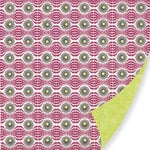 Pink Paislee - Bayberry Cottage Collection - 12 x 12 Double Sided Paper - Picket Fence