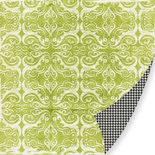 Pink Paislee - Bayberry Cottage Collection - 12 x 12 Double Sided Paper - Front Porch