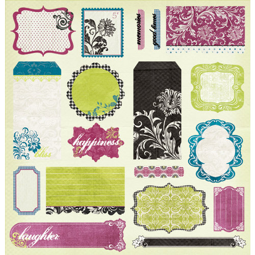 Pink Paislee - Bayberry Cottage Collection - Die Cut - Punch Outs, CLEARANCE